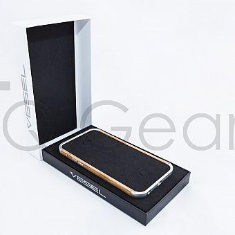 Vesel Case for iPhone 6 – Paris Brilliant Silver & Oak w/ Swarovski